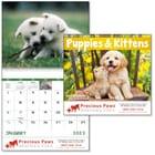 ON SALE-Puppies & Kittens Calendar - Spiral